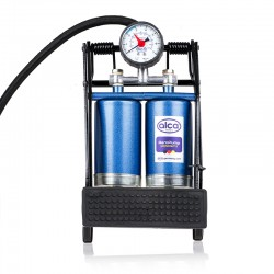 Compact double cylinder foot pump 7 BAR