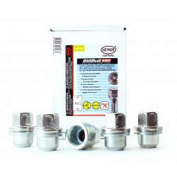 SET OF 4 WHEEL LOCKING NUTS M16x1.5 &  KEY